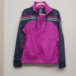 Pink and Gray Adidas Jacket